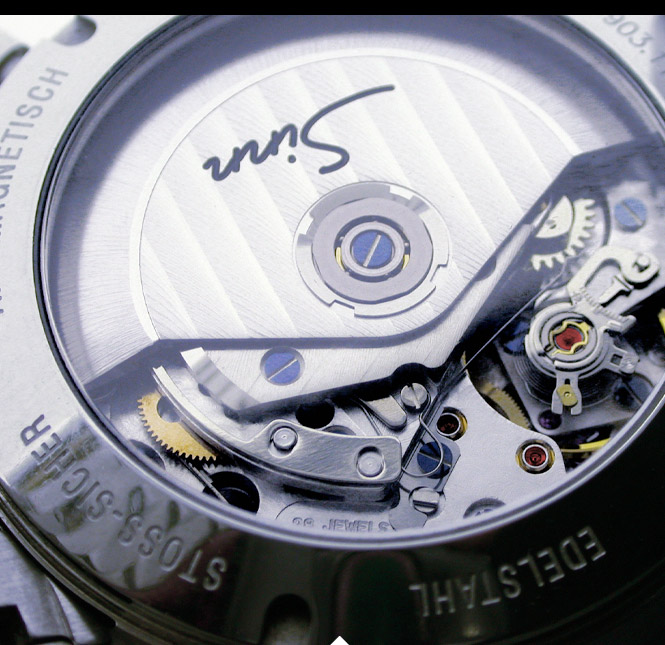 Close Up von Sinn Automatik Uhr