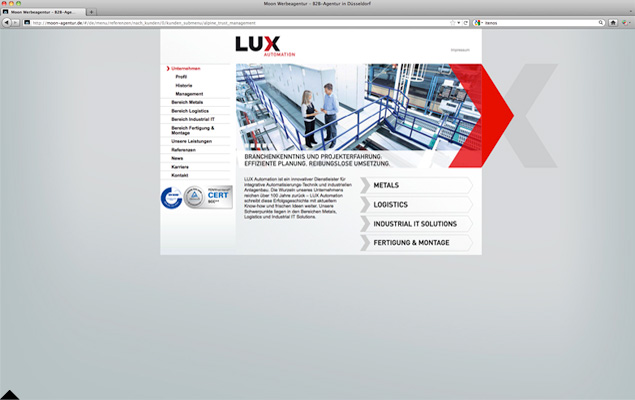 Lux Automation Website 1